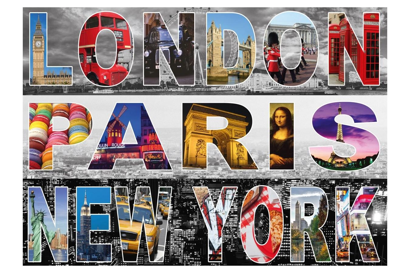 Puzzle Schmidt - Londra, Paris, New York, 1.000 piese (58348)