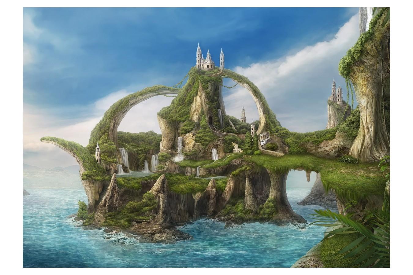 Puzzle Schmidt - Nadegda Mihailova: Island Of Waterfalls, 1.000 piese (59610) imagine