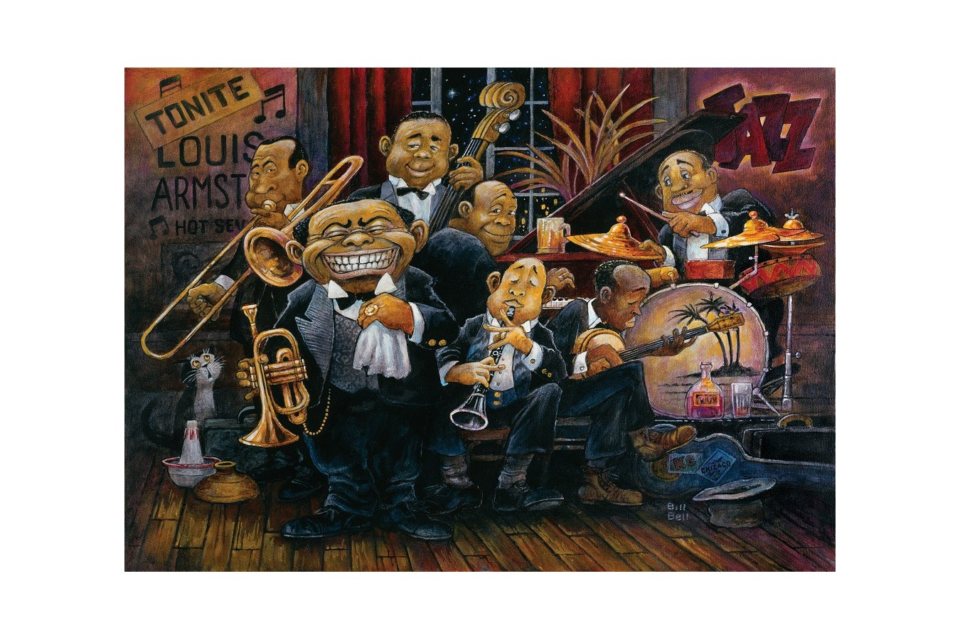 Puzzle Art Puzzle - Bill Bell: Louis Armstrong, 1500 piese (Art-Puzzle-4607) imagine