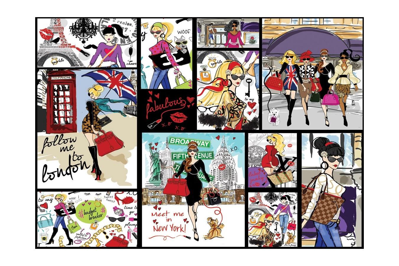 Puzzle Art Puzzle - Fashion Collage, 1500 piese (Art-Puzzle-4636) imagine