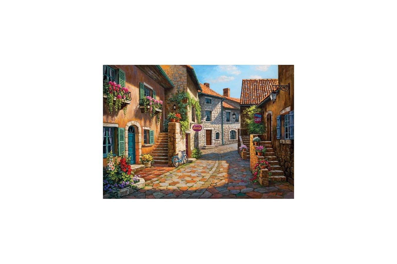 Puzzle Art Puzzle - Sung Kim : Rue de Village, 2.000 piese (Art-Puzzle-4709) imagine