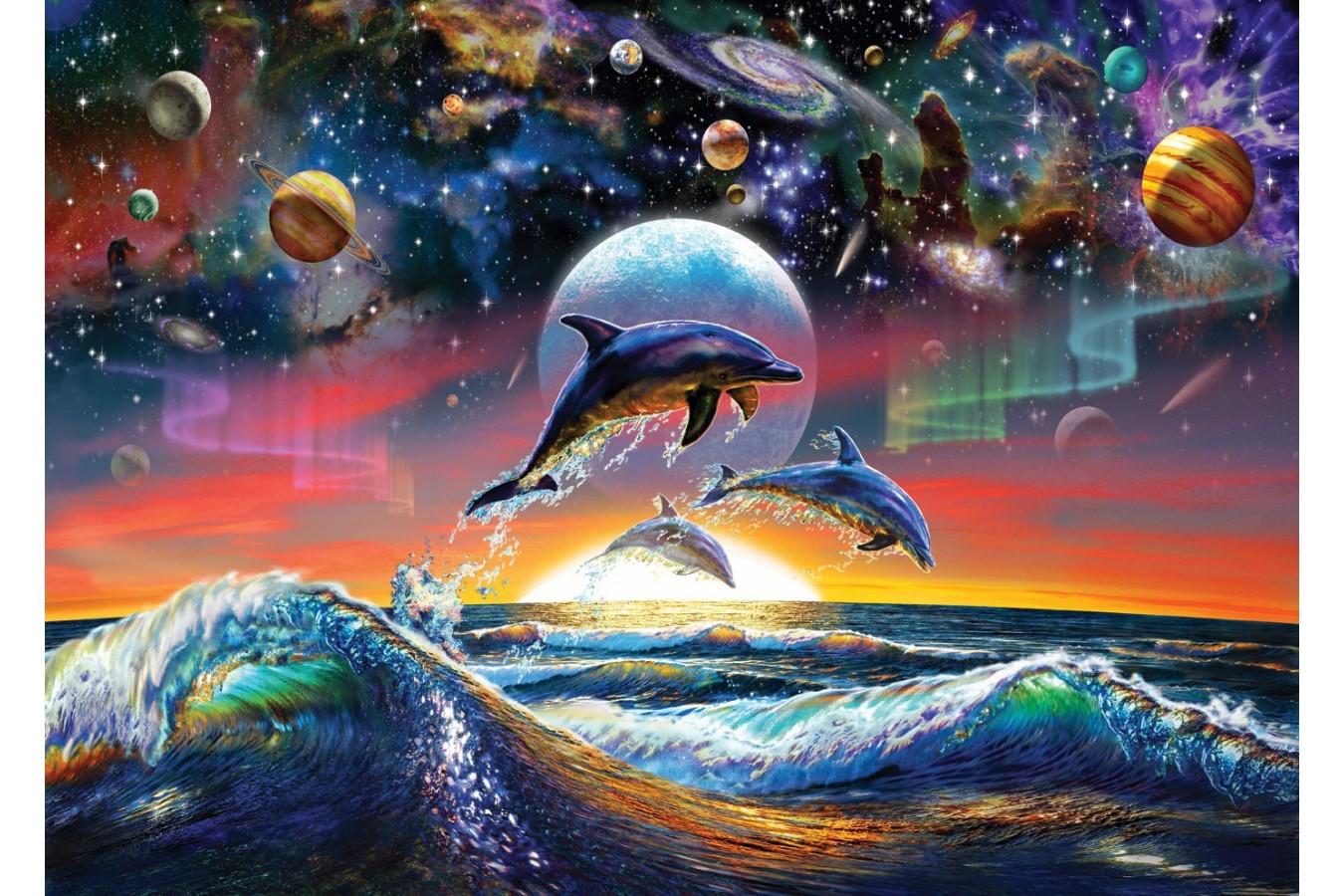 Puzzle Art Puzzle - Universal Dolphins, 500 piese (Art-Puzzle-4162) imagine