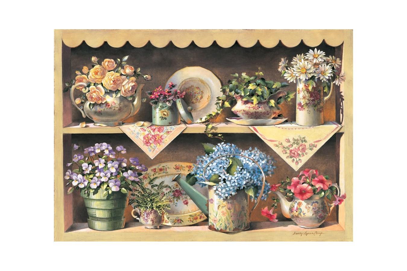 Puzzle din lemn Art Puzzle - Cupboard Garden, 1.000 piese (Art-Puzzle-4447) imagine