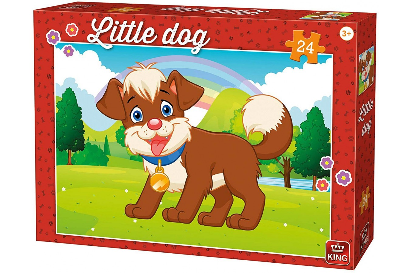 Puzzle King - Little Dog, 24 piese (05799) imagine