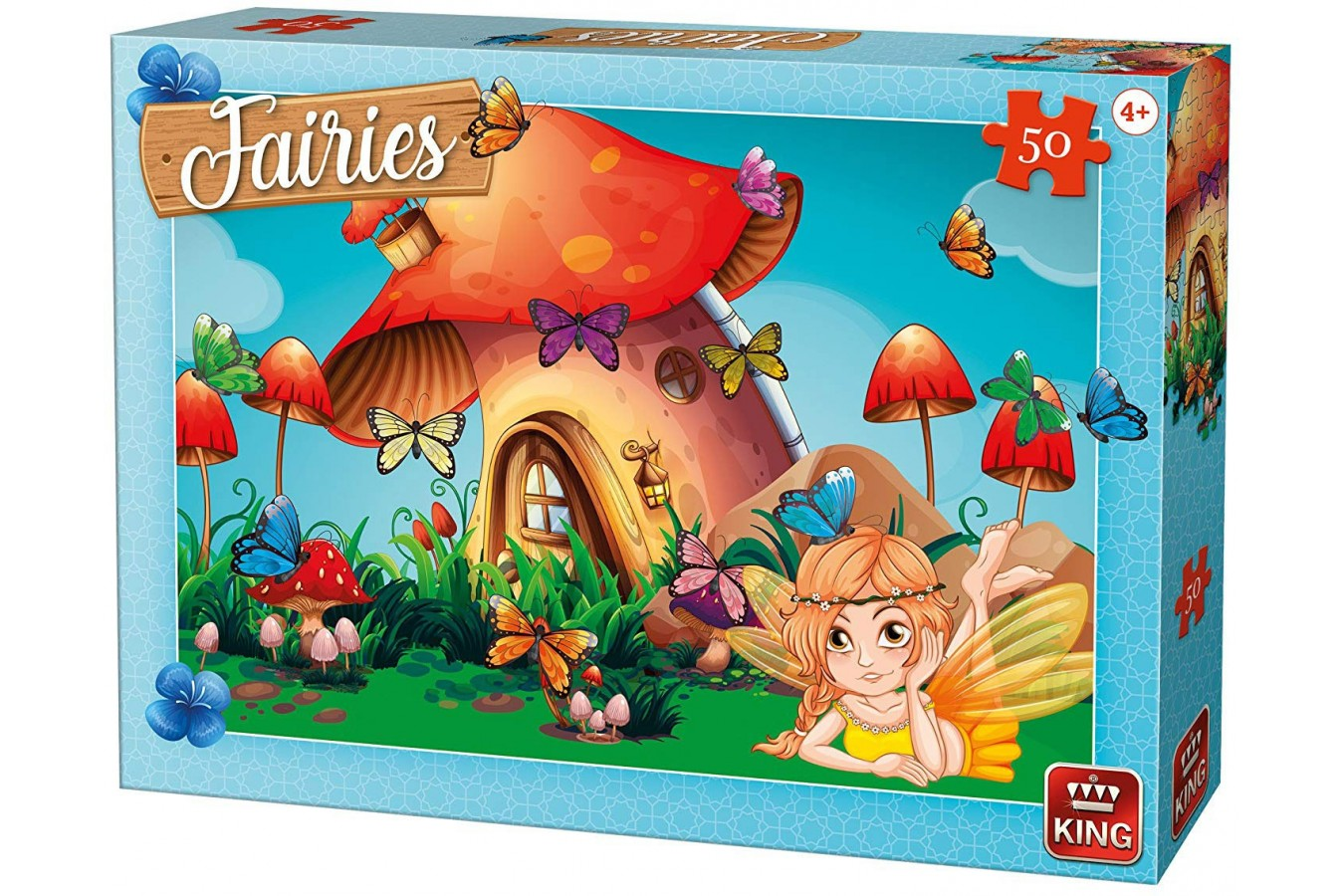 Puzzle King - Fairies, 50 piese (05805) imagine