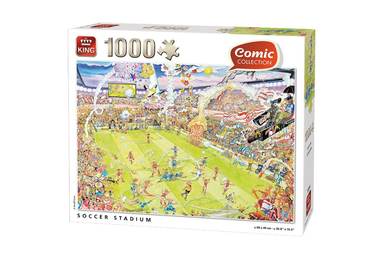 Puzzle King - Soccer Stadium, 1.000 piese (85576-A) imagine