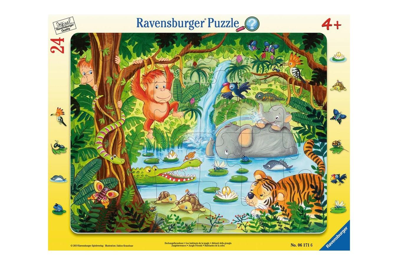 Puzzle Ravensburger - Jungle, 24 piese (06171) imagine