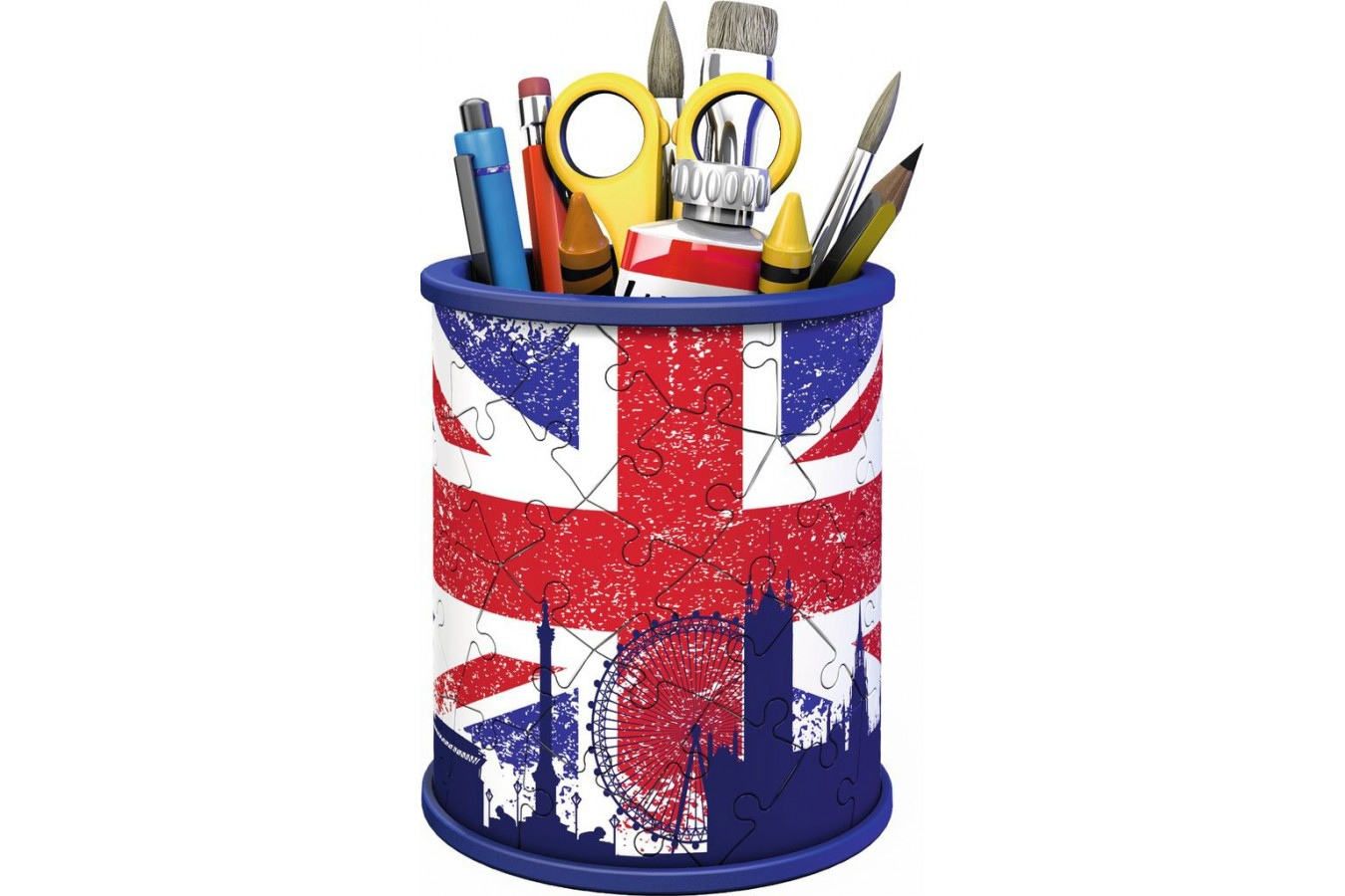 Puzzle 3D Ravensburger - Pencil Cup - Union Jack, 54 piese (11153) imagine