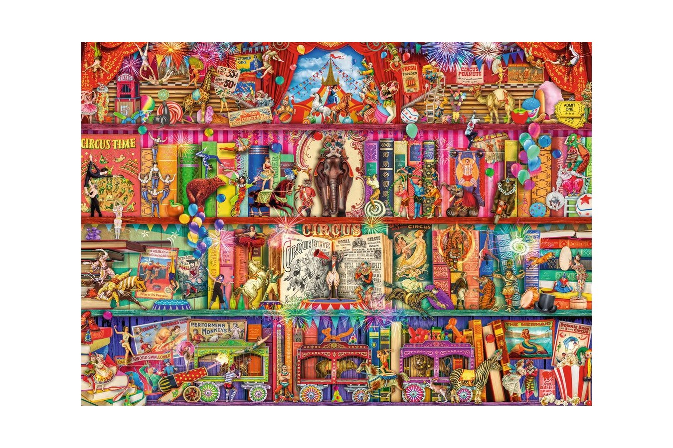 Puzzle Ravensburger - The Greatest Show on Earth, 1.000 piese (15254) imagine