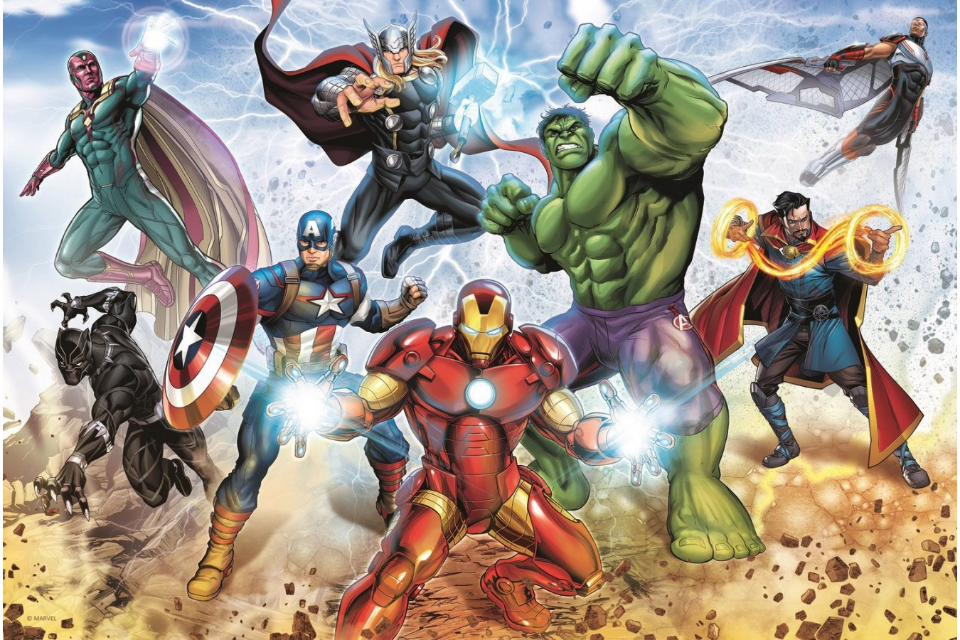Puzzle Trefl - Disney Marvel, The Avengers, 160 piese (15368) imagine
