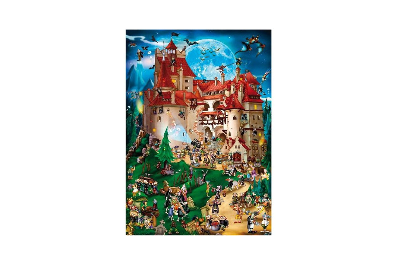 Puzzle D-Toys - Cartoon Collection: Vampire Party, 1.000 piese (DToys-61218-CC08-(70852)) imagine