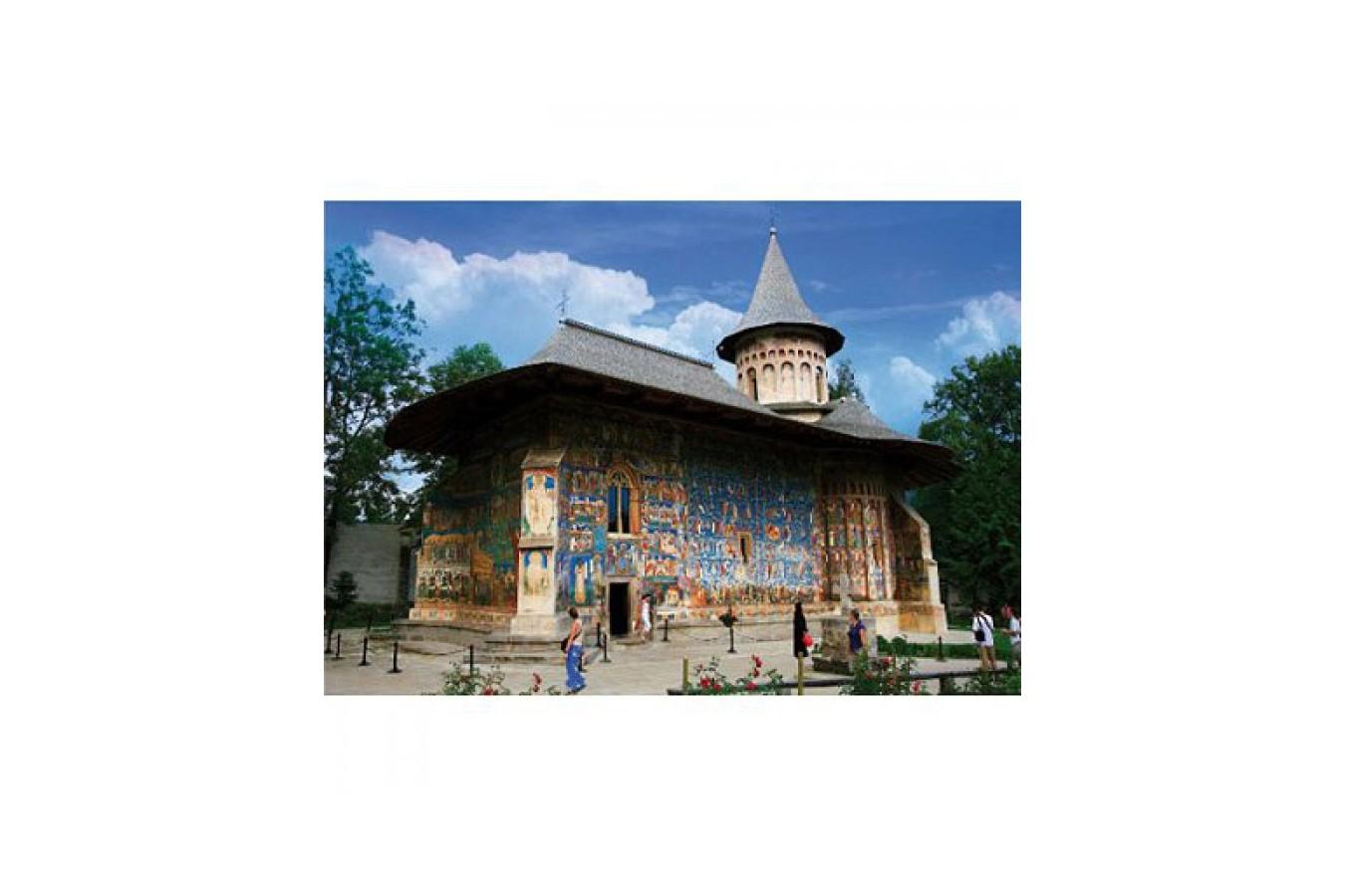 Puzzle D-Toys - Romania - Voronet Monastery, 1.000 piese (DToys-63038-MN02) imagine