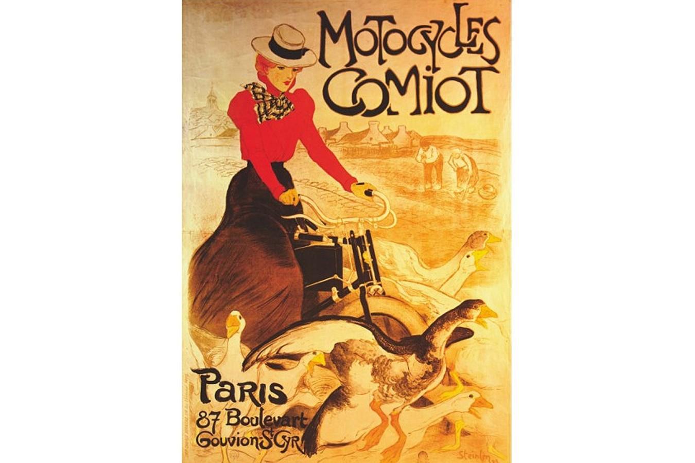 Puzzle D-Toys - Vintage Posters: Comiot Motocycles, 1.000 piese (DToys-67555-VP02-(69634)) imagine