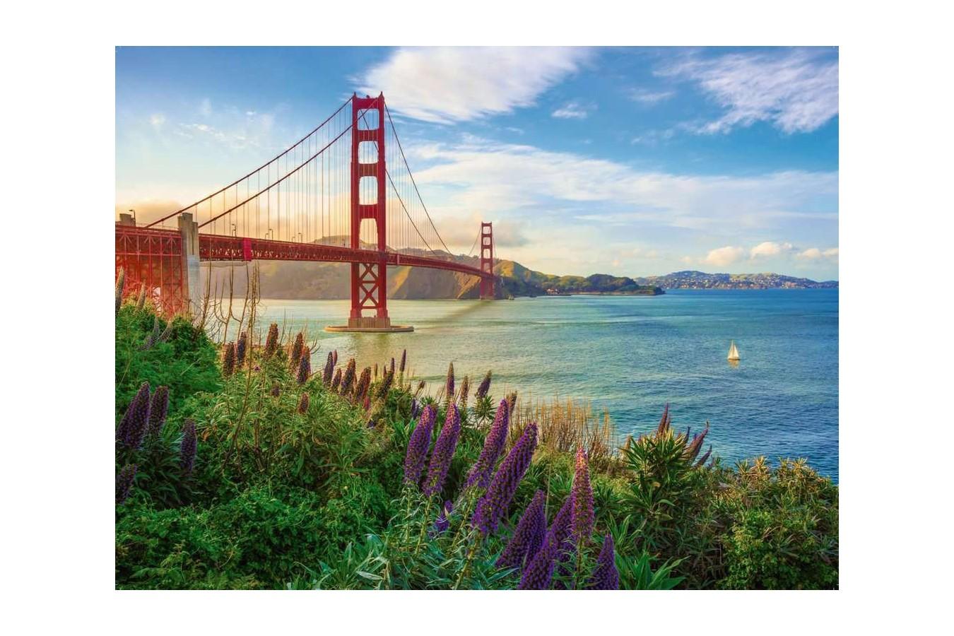 Puzzle Ravensburger - Golden Gate Sunrise, 1.000 piese (15289) imagine