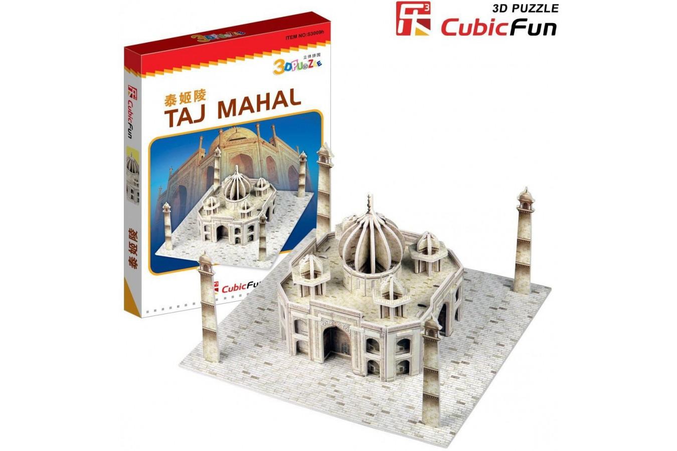 Puzzle 3D Cubic Fun - India : Taj Mahal, 39 piese (Cubic-Fun-S3009H) imagine