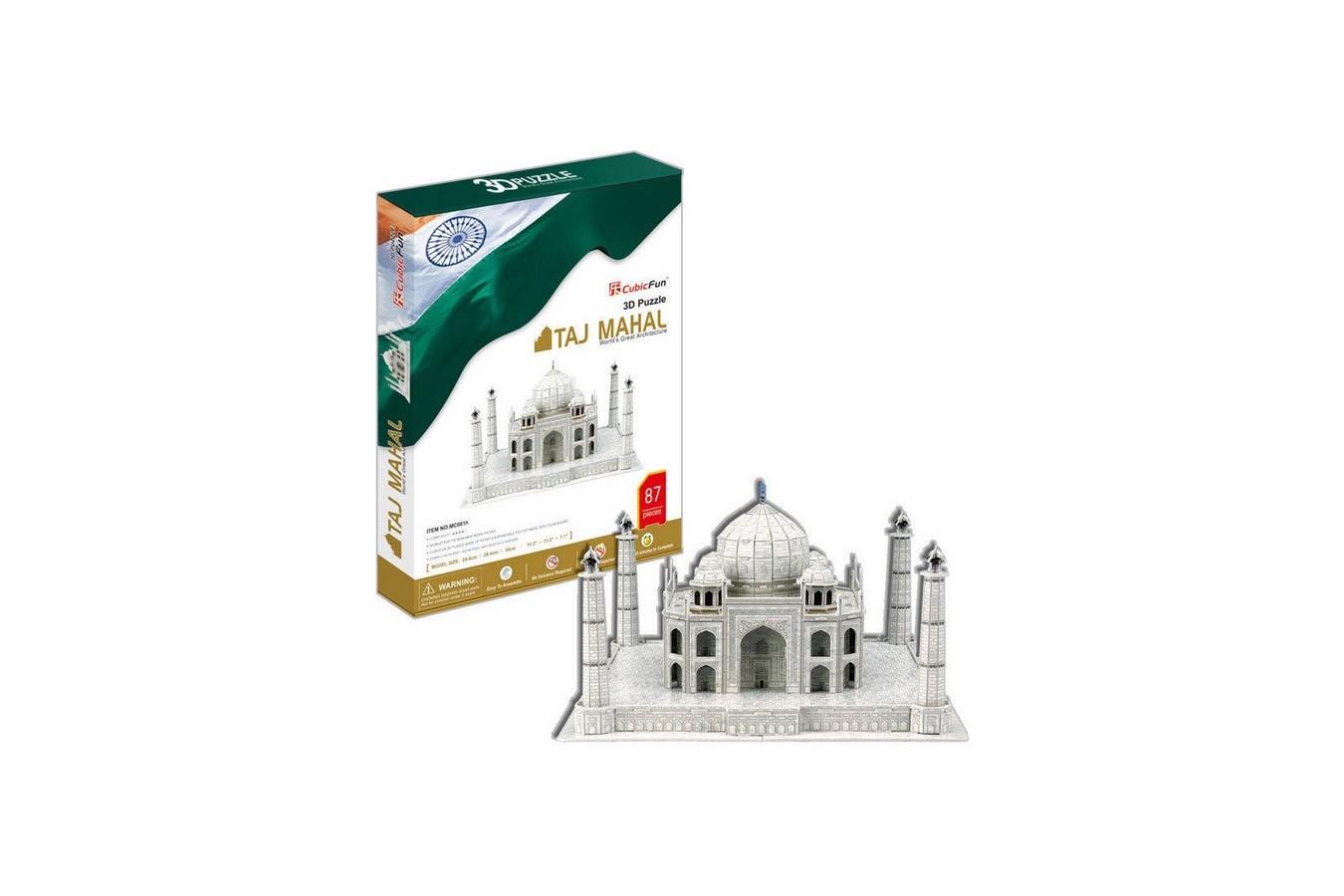 Puzzle 3D Cubic Fun - Taj Mahal, 87 piese (Cubic-Fun-MC081H) imagine