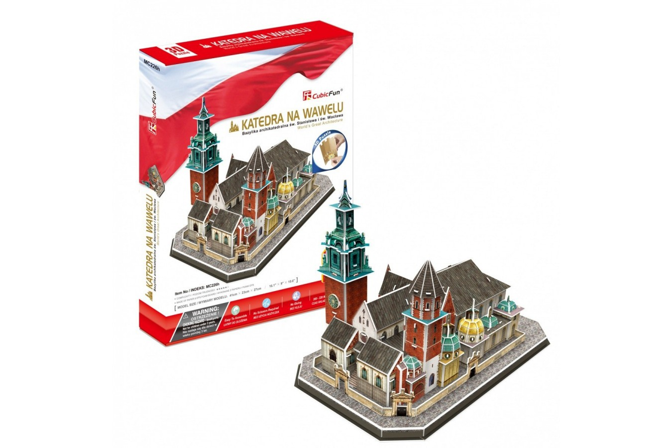 Puzzle 3D Cubic Fun - Wawel Cathedral, 101 piese (Cubic-Fun-MC226h) imagine