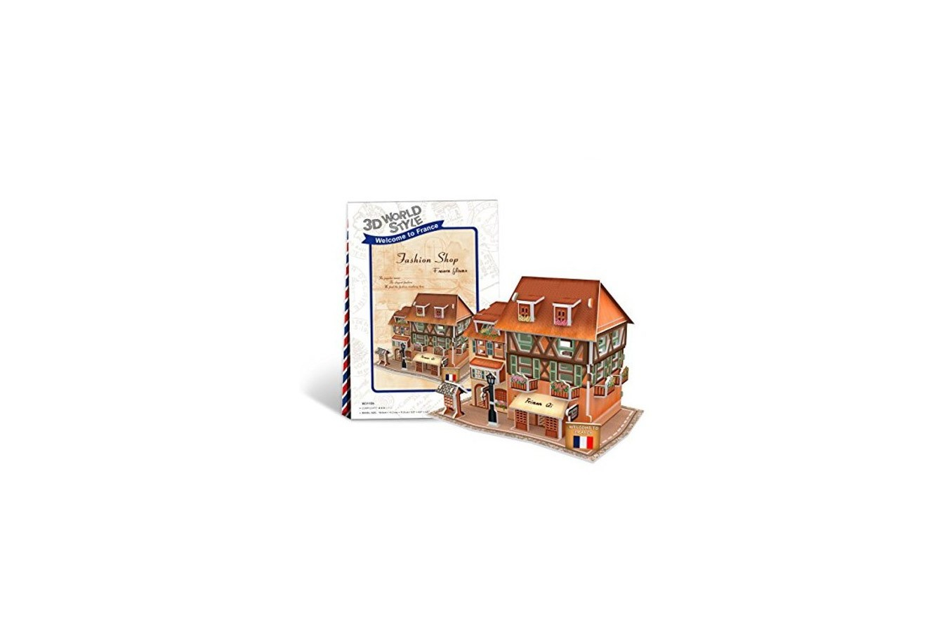 Puzzle 3D Cubic Fun - World Style - Welcome to France, 31 piese (Cubic-Fun-W3119H) imagine