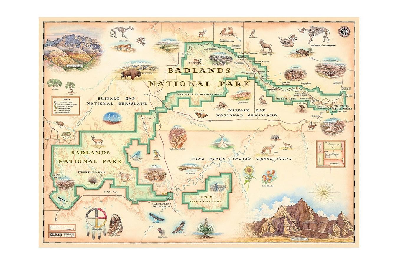 Puzzle Master Pieces - Badlands Map, 1.000 piese (Master-Pieces-71764) imagine