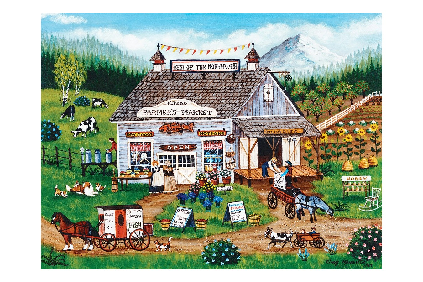 Puzzle Master Pieces - Best of the Northwest, 750 piese (Master-Pieces-31804) imagine