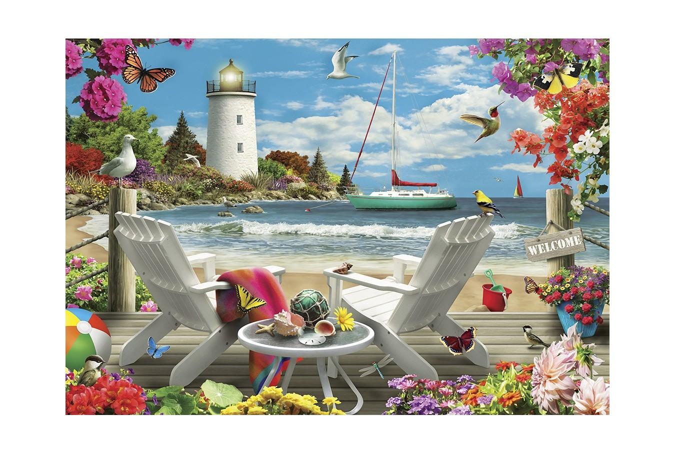 Puzzle Master Pieces - Coastal Escape, 2.000 piese (Master-Pieces-81401) imagine