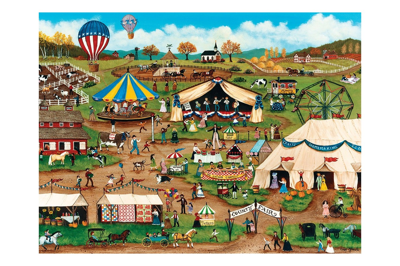 Puzzle Master Pieces - Country Fair, 750 piese (Master-Pieces-31803) imagine