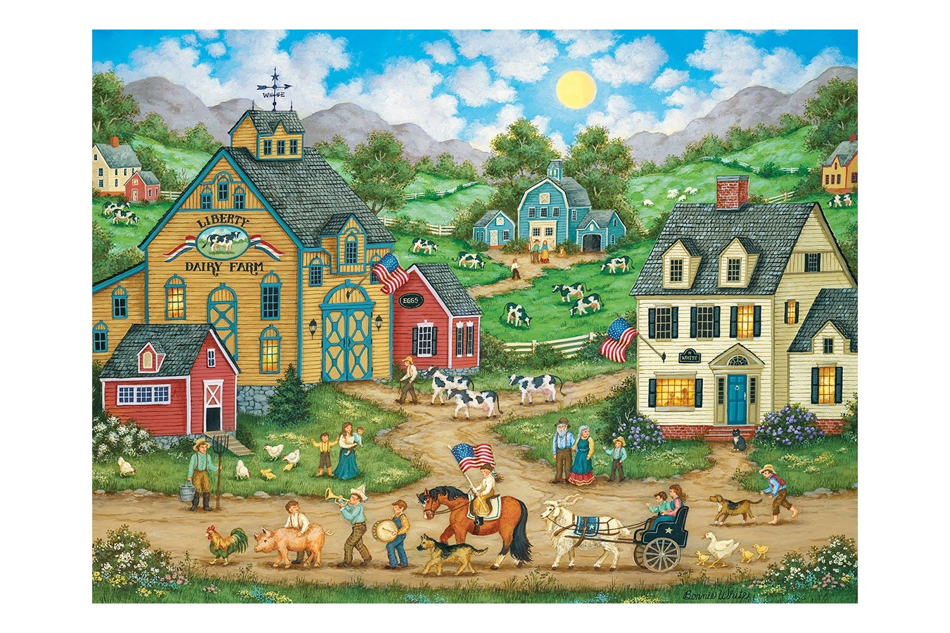 Puzzle Master Pieces - Liberty Farm Parade, 550 piese (Master-Pieces-31836) imagine
