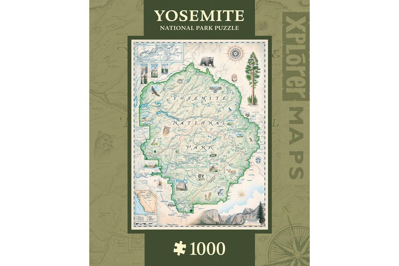 Puzzle Master Pieces - Xplorer Maps - Bryce Canyon, 1.000 piese (Master-Pieces-71701) imagine