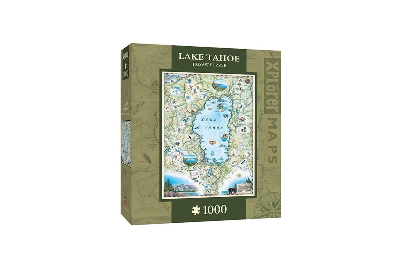 Puzzle Master Pieces - Xplorer Maps - Lake Tahoe, 1.000 piese (Master-Pieces-71707) imagine