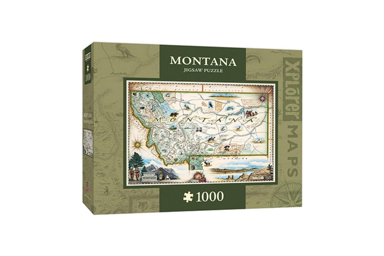 Puzzle Master Pieces - Xplorer Maps - Montana, 1.000 piese (Master-Pieces-71708) imagine