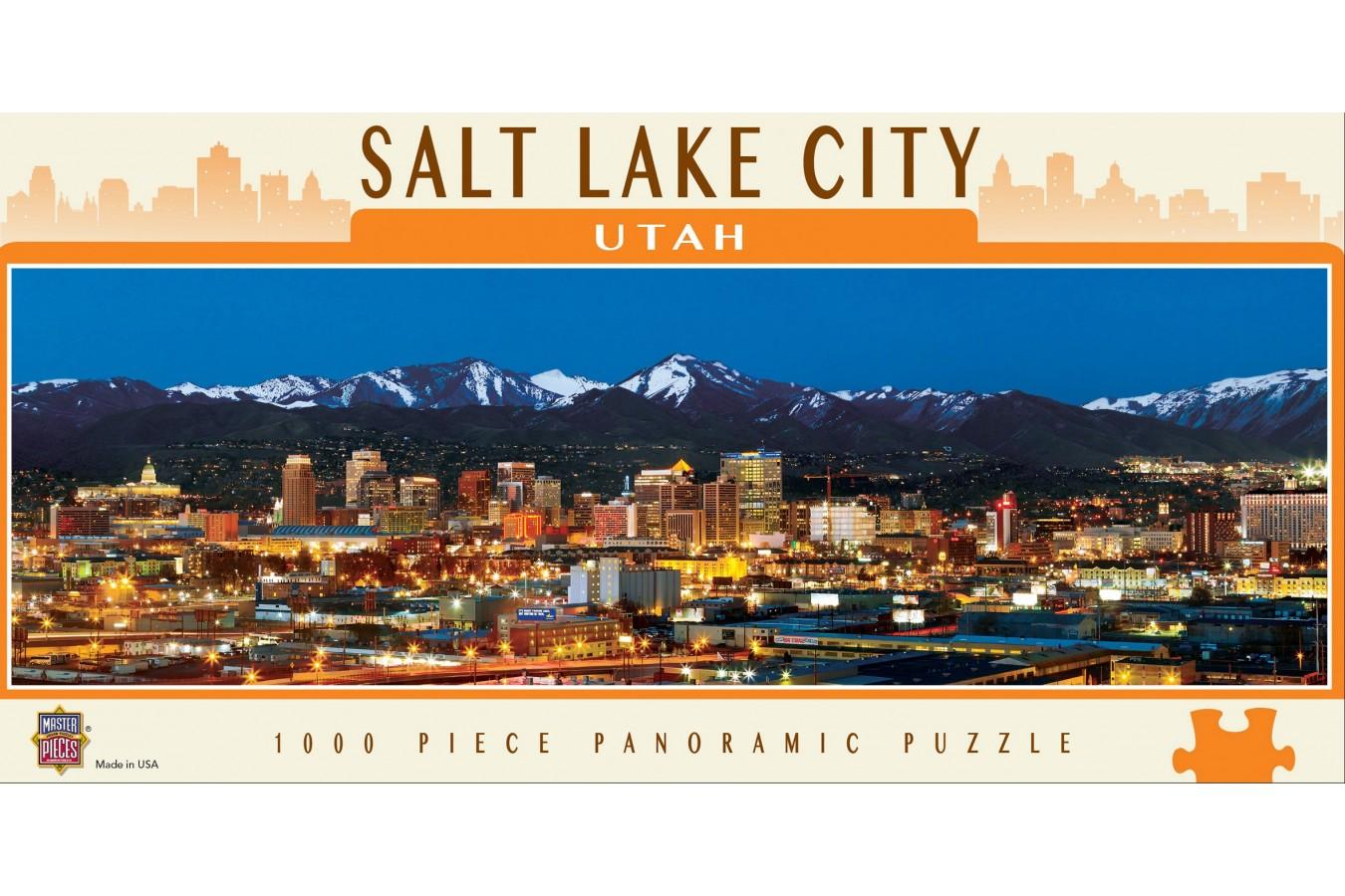 Puzzle panoramic Master Pieces - Salt Lake City, Utah, 1.000 piese (Master-Pieces-71592) imagine