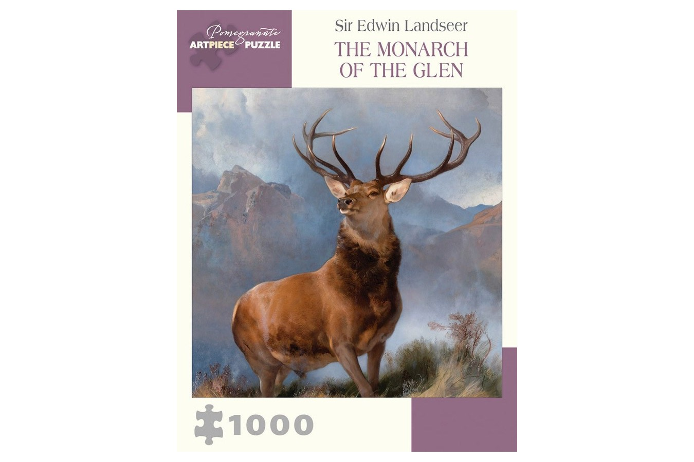 Puzzle Pomegranate - Sir Edwin Landseer: The Monarch of the Glen, 1.000 piese (AA1007) imagine