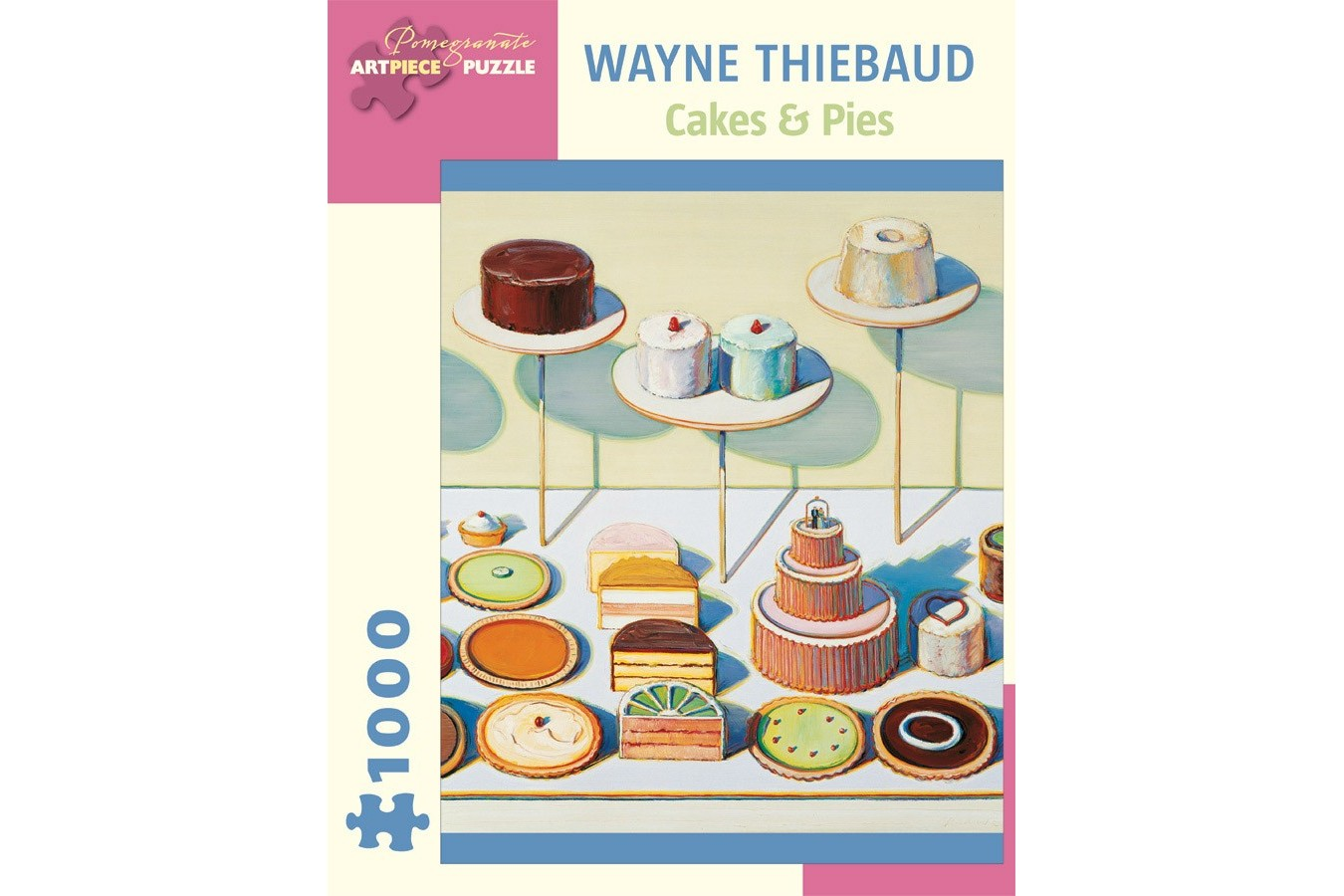 Puzzle Pomegranate - Wayne Thiebaud: Cakes and Pies, 1.000 piese (AA834) imagine