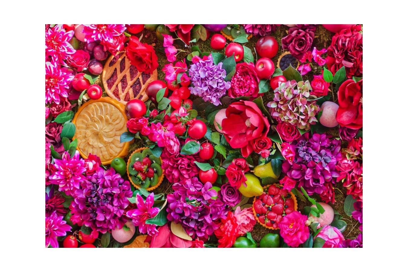 Puzzle Bluebird Puzzle - Flowers & Fruits, 1500 piese (Bluebird-Puzzle-70222) imagine