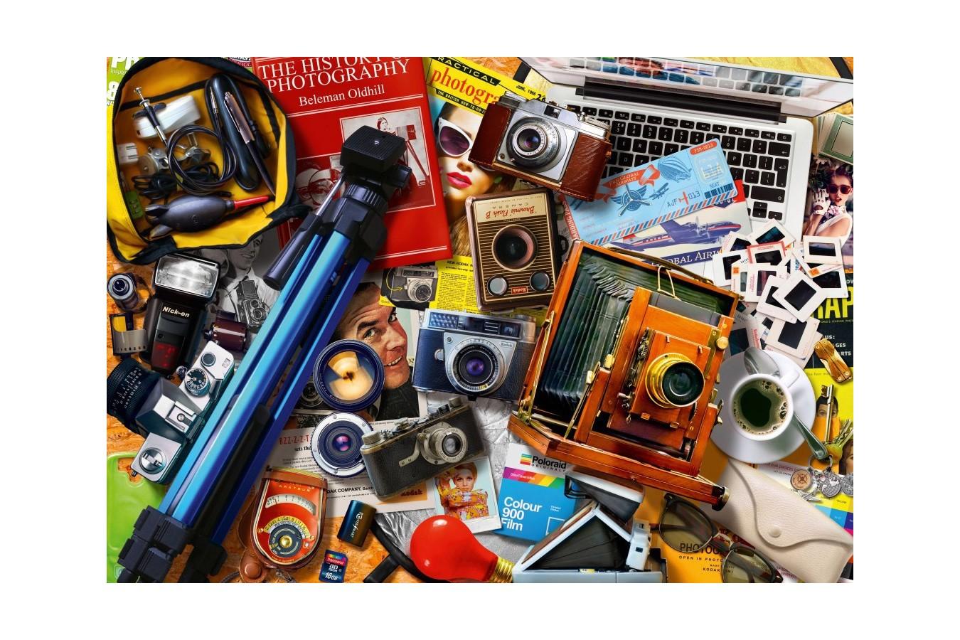 Puzzle Bluebird - Retro Camera Tabletop, 1.000 piese (Bluebird-Puzzle-70240-P)