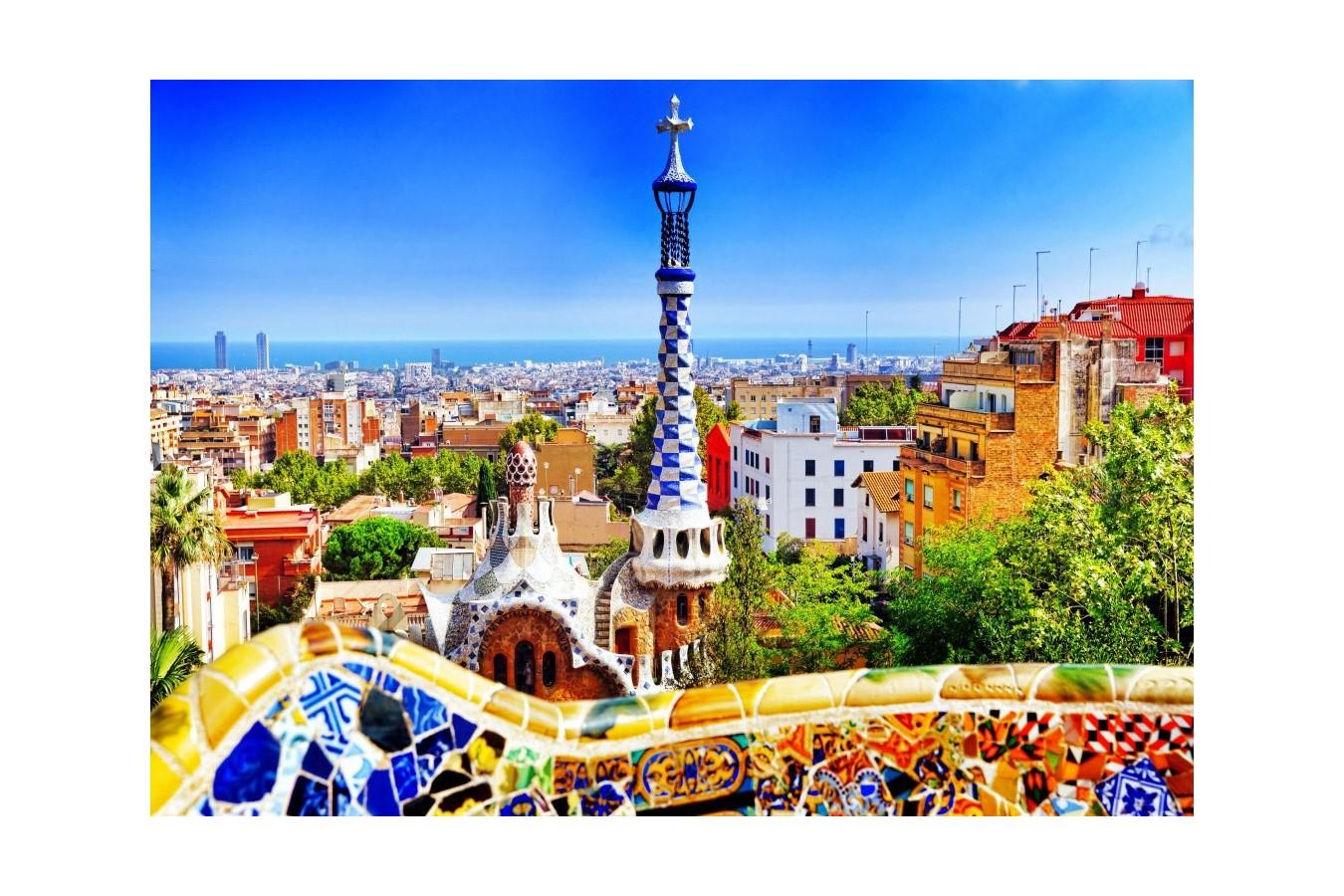 Puzzle Bluebird - Park Guell, Barcelona, 1.000 piese (Bluebird-Puzzle-70273) imagine