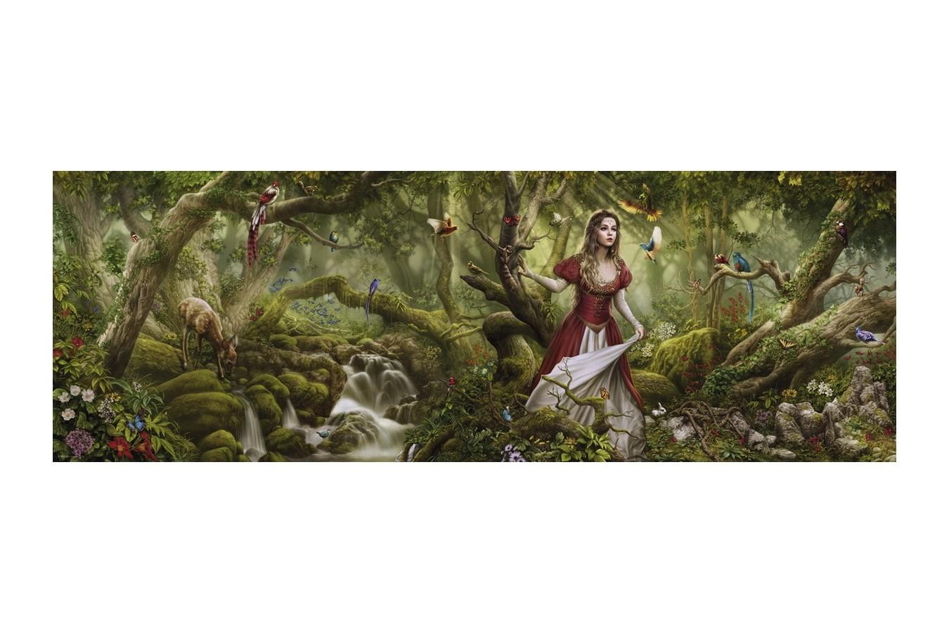 Puzzle panoramic Heye - Cris Ortega: Forest Song, 1.000 piese (29869) imagine