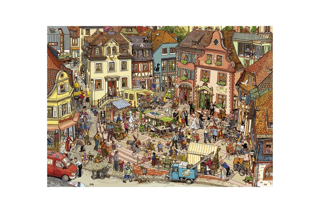 Puzzle Heye - Doro Gobel & Peter Knorr: Market Place, 1.000 piese (29884) imagine