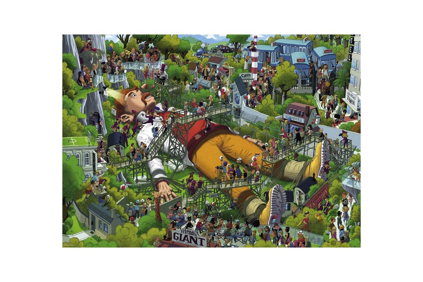 Puzzle Heye - Uli Oesterle: Gulliver, 1.000 piese (29886) imagine