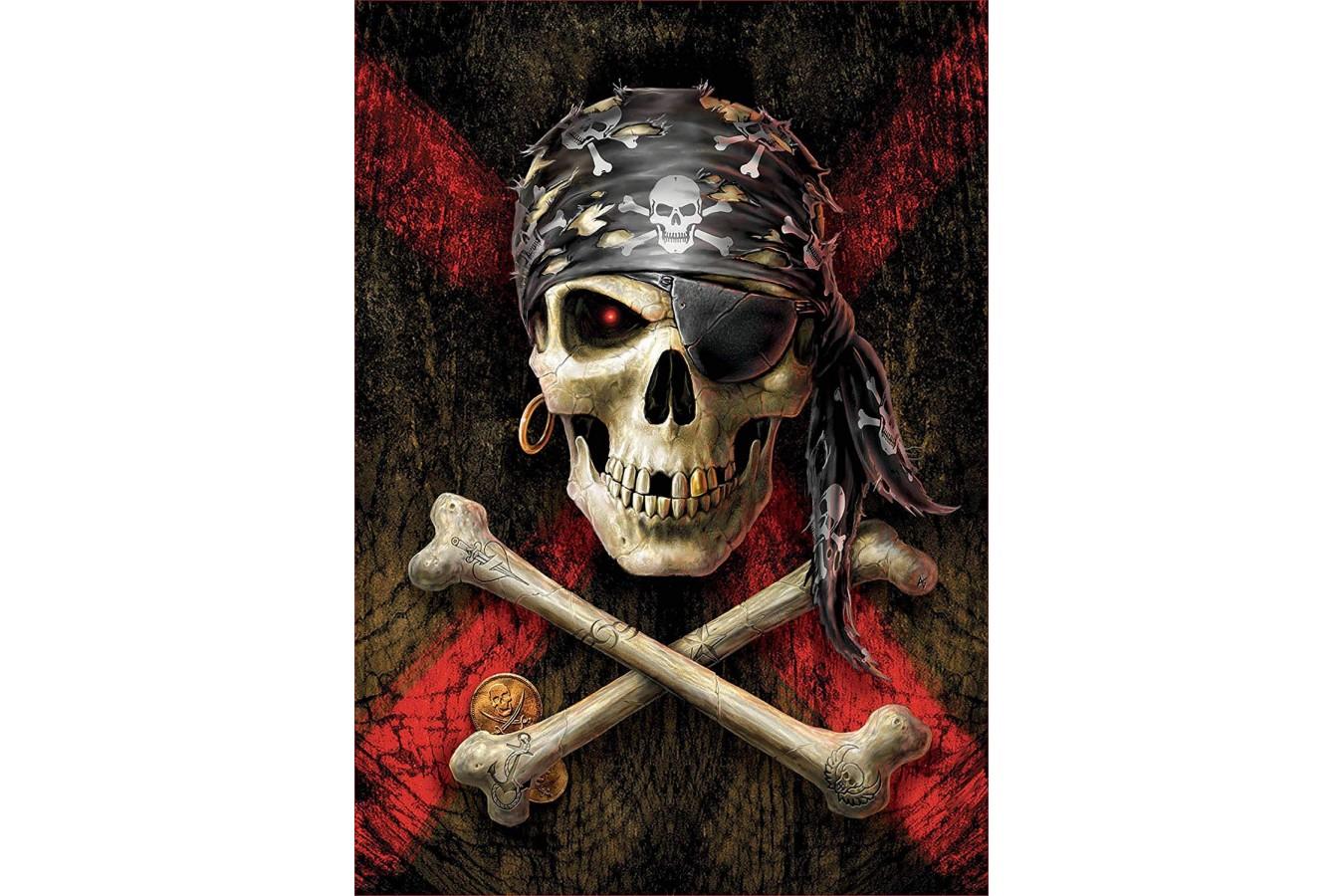 Puzzle Educa - Skull of a Pirate, 500 piese (17964) imagine