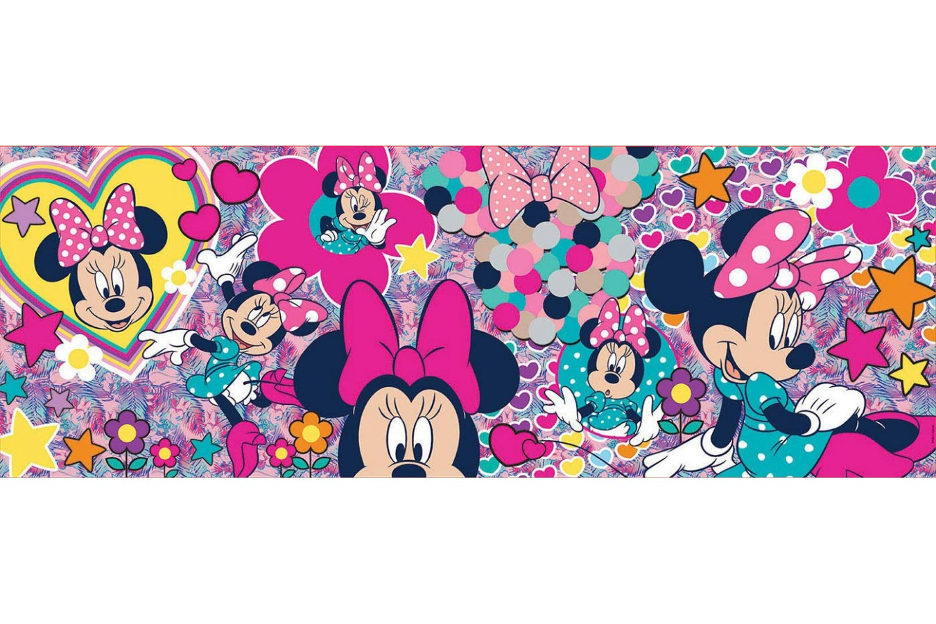 Puzzle panoramic Educa - Minnie Mouse, 1.000 piese (17991) imagine