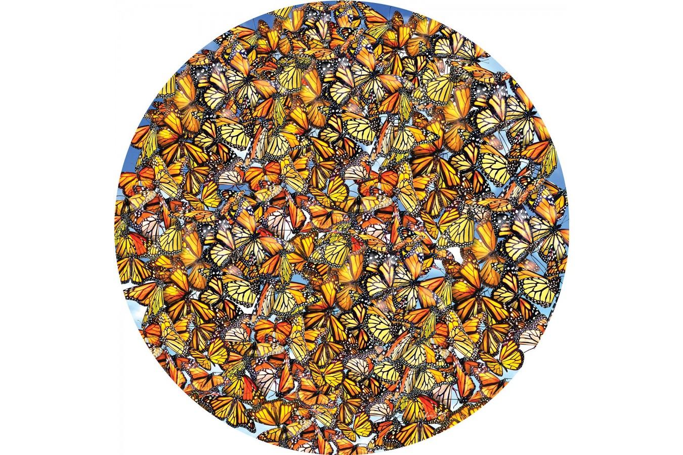 Puzzle rotund SunsOut - Lori Schory: Monarch Frenzy, 1.000 piese (Sunsout-35047) imagine