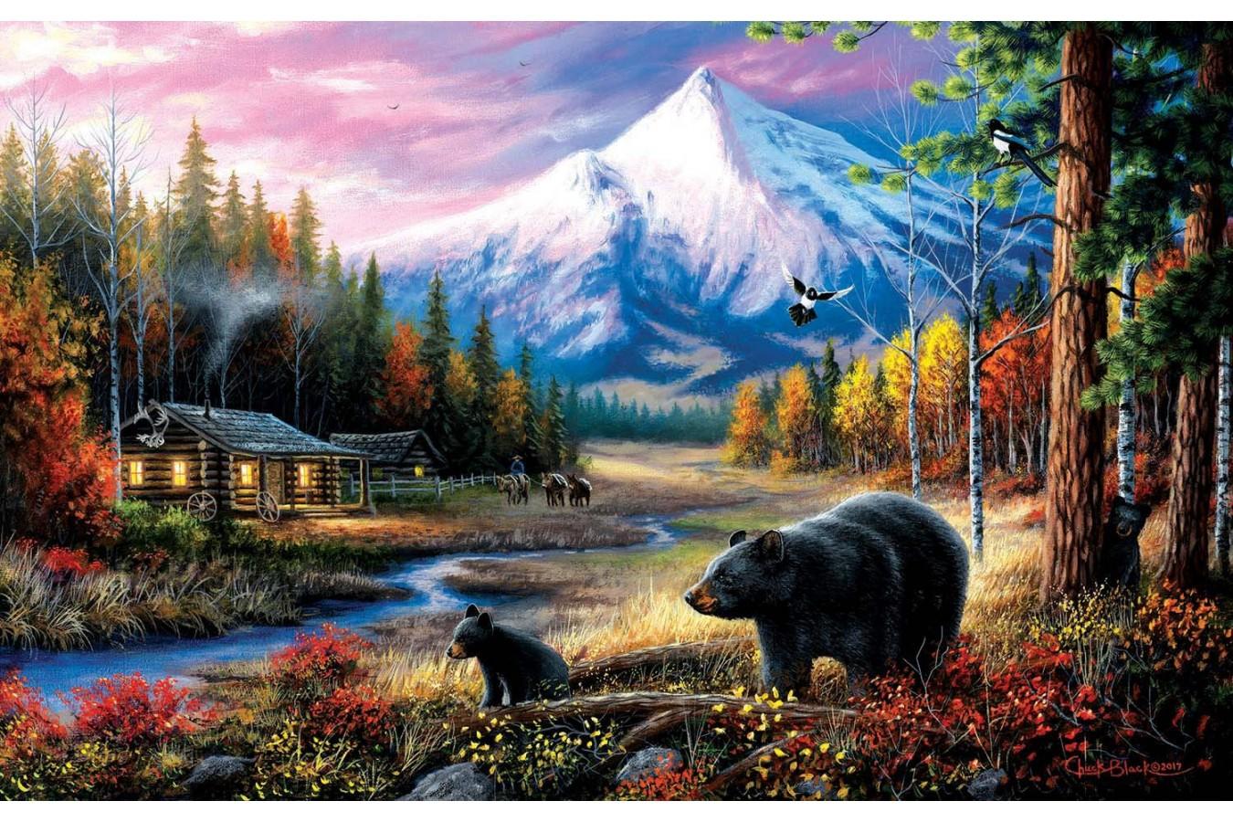 Puzzle SunsOut - Chuck Black: Routine Visitors, 550 piese (Sunsout-55156) imagine