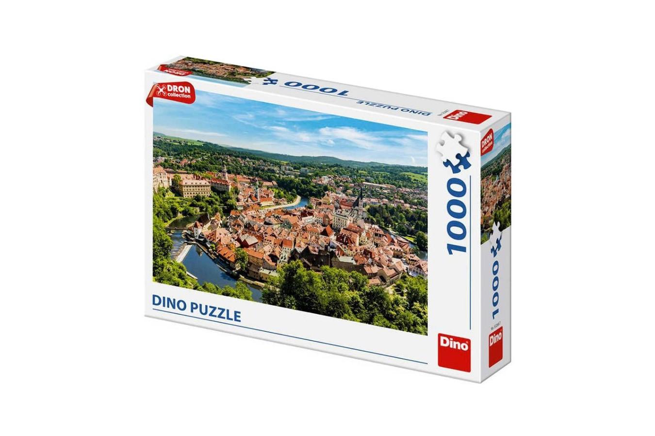 Puzzle Dino - Cesky Krumlov, Czech Republic, 1.000 piese (53268) imagine