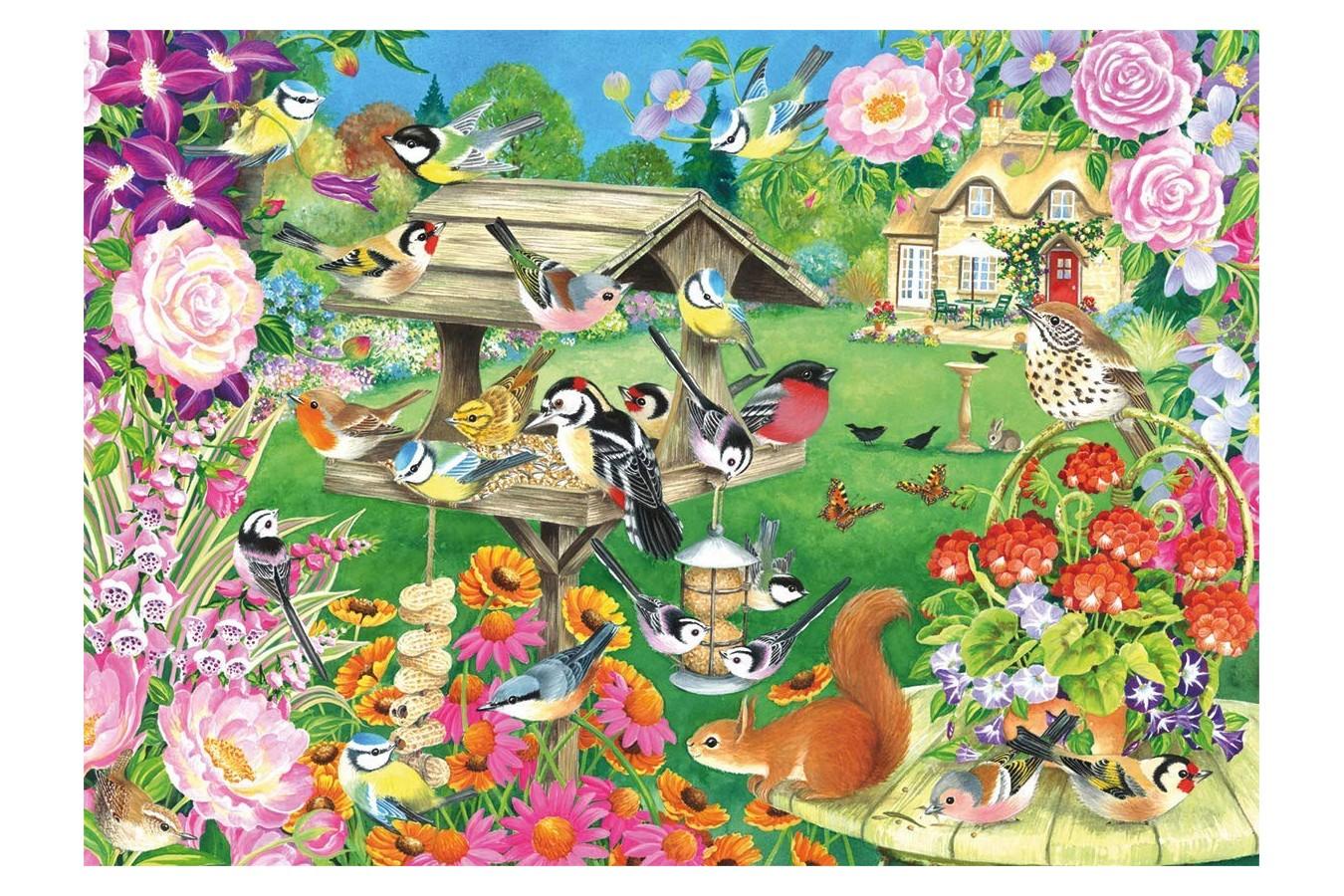 Puzzle Falcon - Summer Garden Birds, 500 piese (Jumbo-11253) imagine