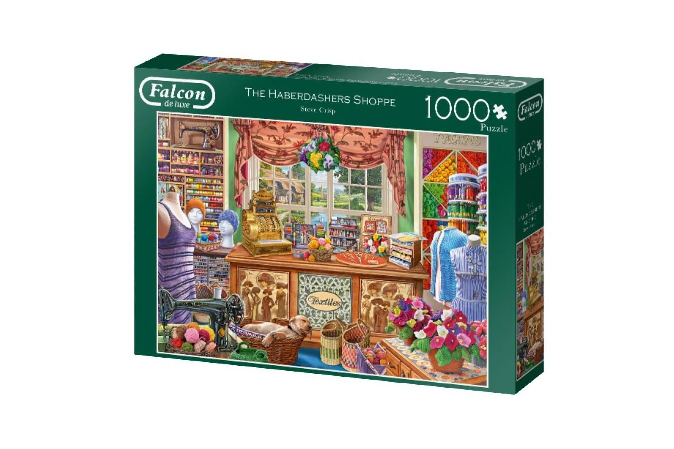 Puzzle Falcon - The Haberdashers Shoppe, 1.000 piese (Jumbo-11256) imagine