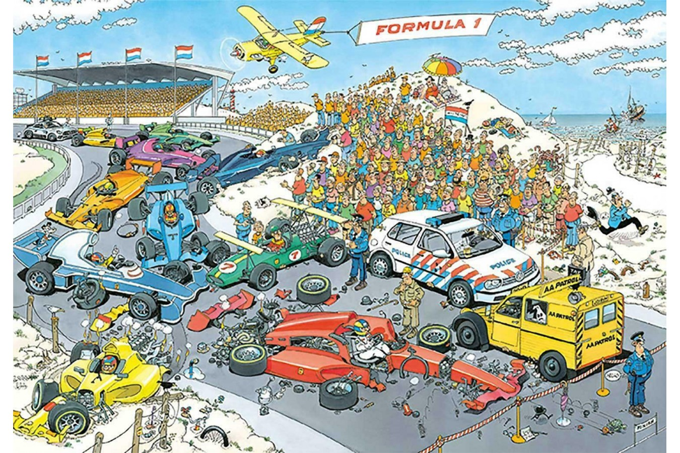 Puzzle Jumbo - Jan Van Haasteren: Formula 1, 2.000 piese (19097) imagine