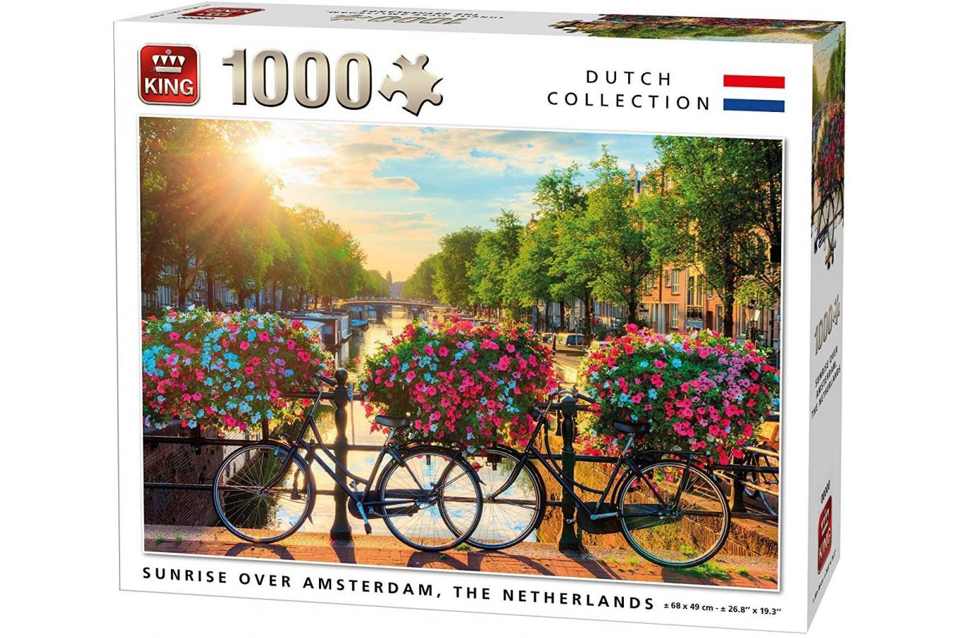 Puzzle King - Sunrise Over Amsterdam, 1.000 piese (05721) imagine