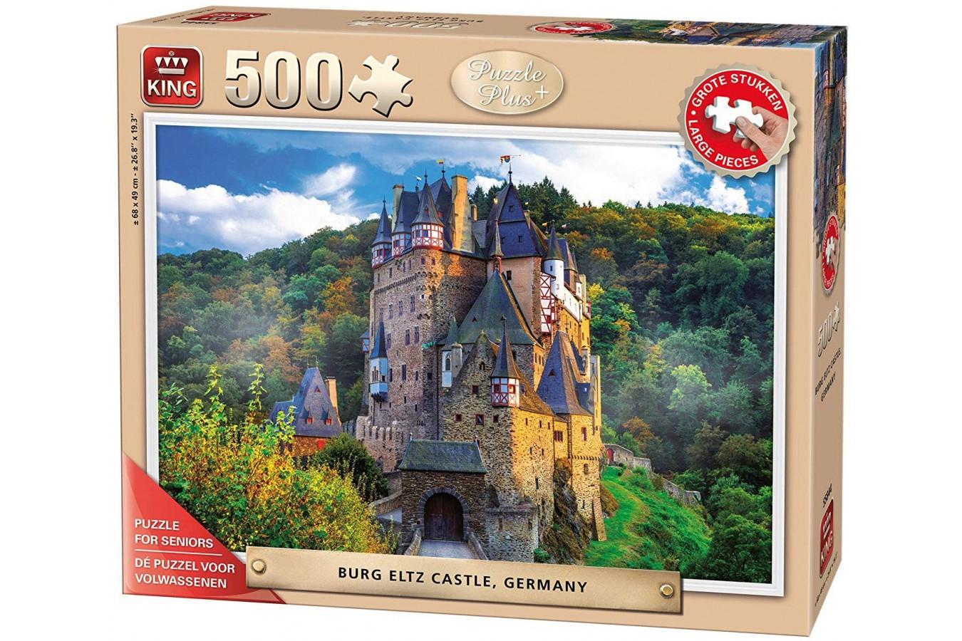 Puzzle King - Burg Eltz Castle, 500 piese XXL (55844) imagine