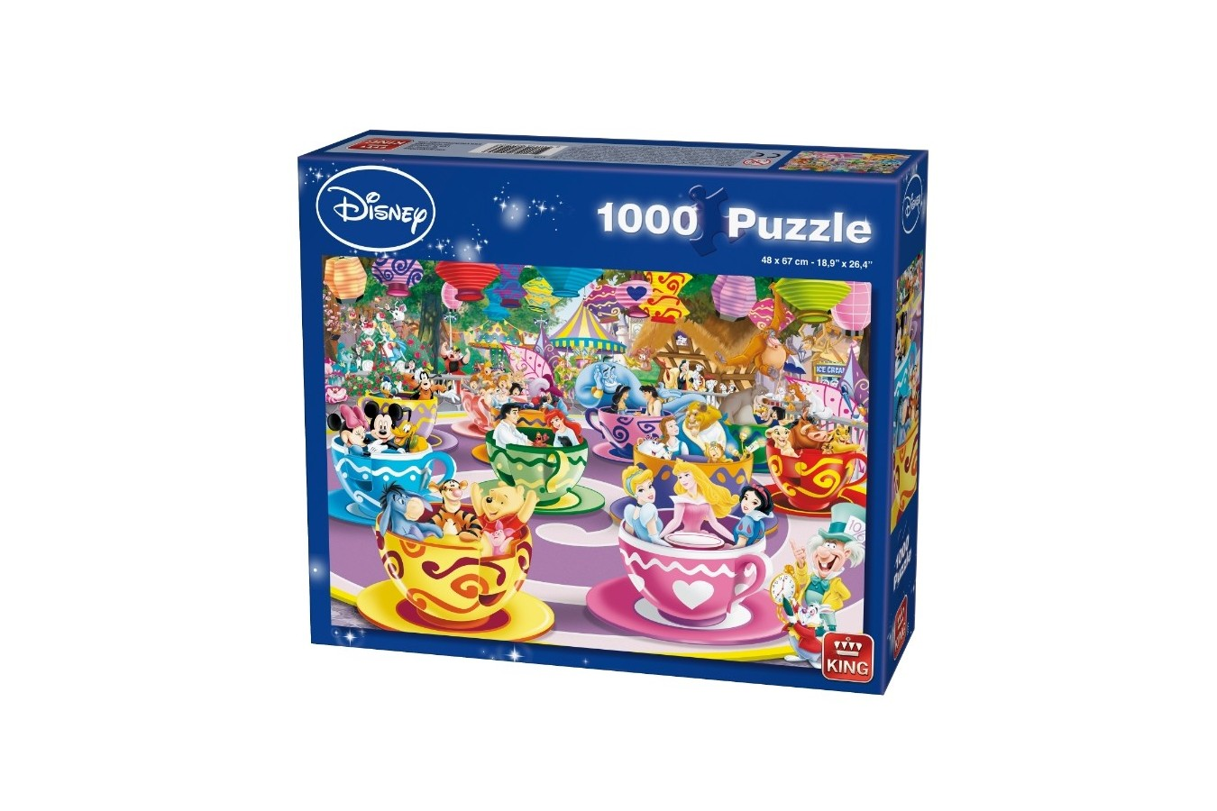 Puzzle King - Disney Mad Tea Cup, 1.000 piese (K05125) imagine